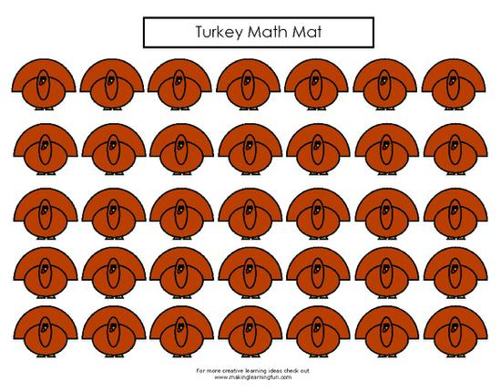 turkey worksheet