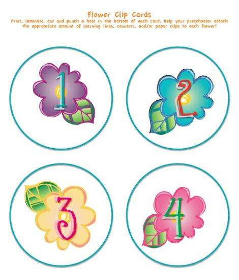 spring garden flower counting preschool printable activity
