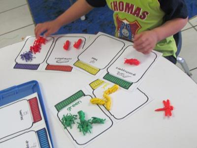 Summer Bugs Counting and Sorting Preschool Math Lesson Plan