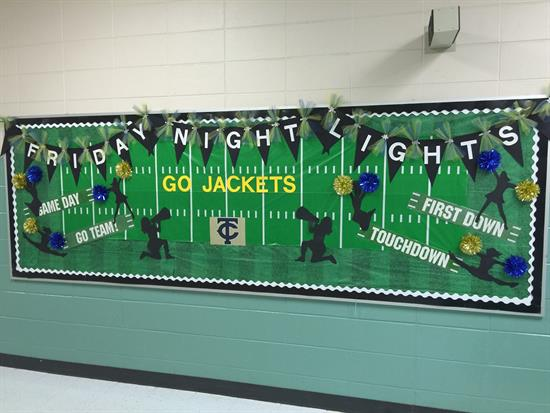 Friday Night Lights Football Themed Bulletin Board