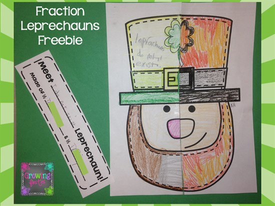 Leprechaun Worksheet for Fraction Practice Completed