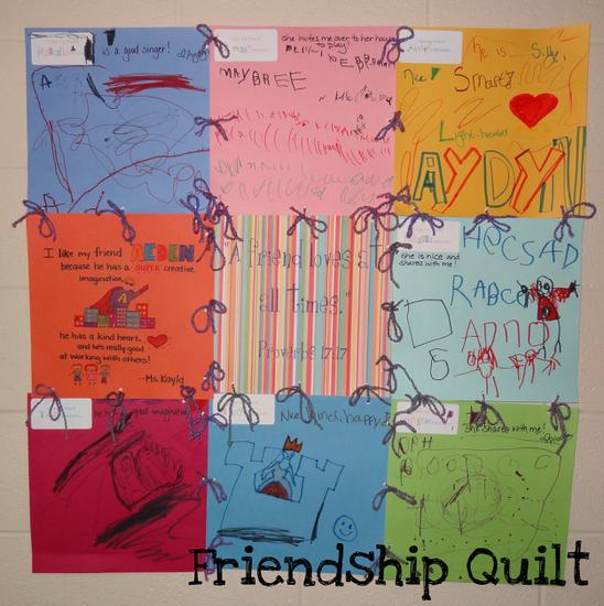 Preschool and Kindergarten Friendship Bulletin Board Idea