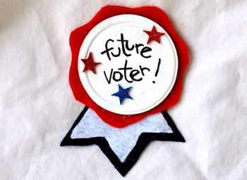 Election Day Patriotic Voter Button or Ribbon