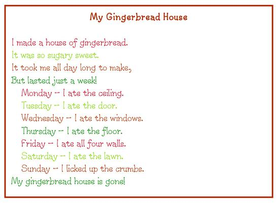 poem about a gingerbread house
