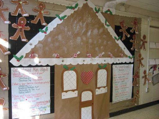 Christmas Gingerbread House Bulletin Board Decoration