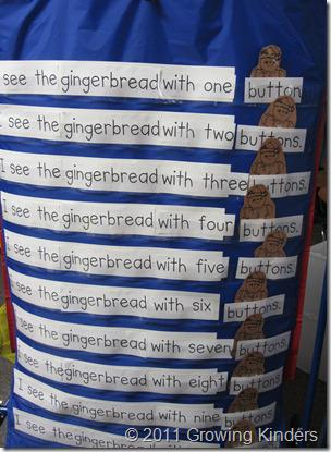 Christmas and Winter Gingerbread Literacy Kindergarten Lesson Plan