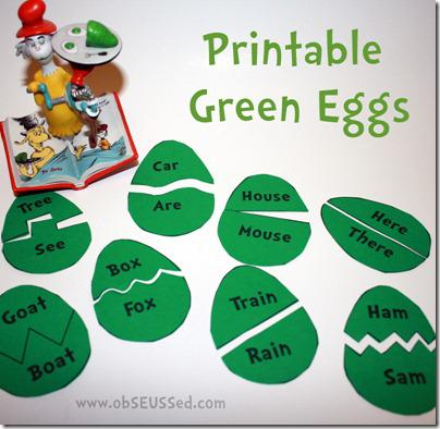 Dr Seuss Literacy Preschool Printable and Preschool Lesson Plan