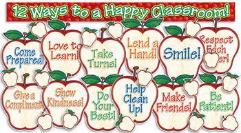 12 Ways To A Happy Classroom! - Apple Themed Bulletin Board ...