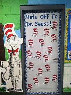 Read Across America Dr. Seuss Reading and Literacy Door Bulletin Board Idea