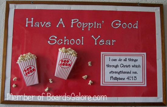 Back to School Popcorn-Themed Fall Welcome Board Bulletin