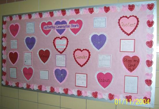 Math Conversation Hearts Valentine S Day Bulletin Board Idea Supplyme