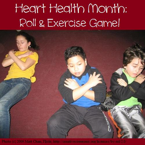Heart Health Month Roll and Exercise Game