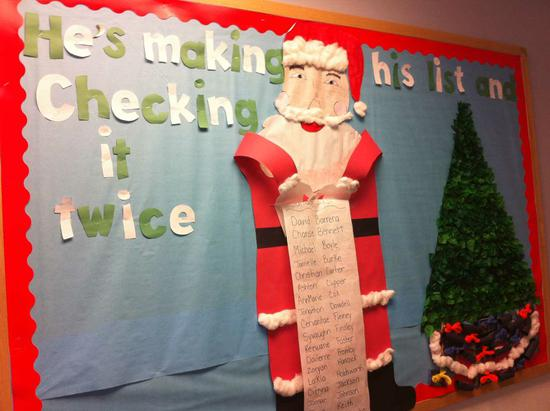 Christmas Santa Bulletin Board Idea