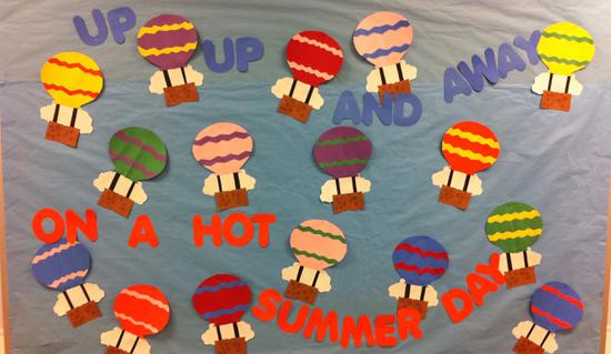 Summer Kindergarten Bulletin Board Idea