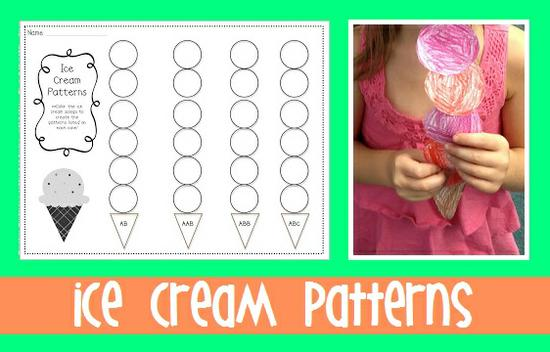 Summer Ice Cream Math Preschool Printable