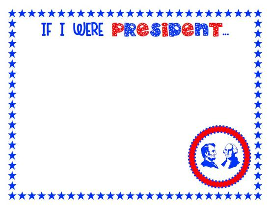 President's Day Social Studies Preschool Printable