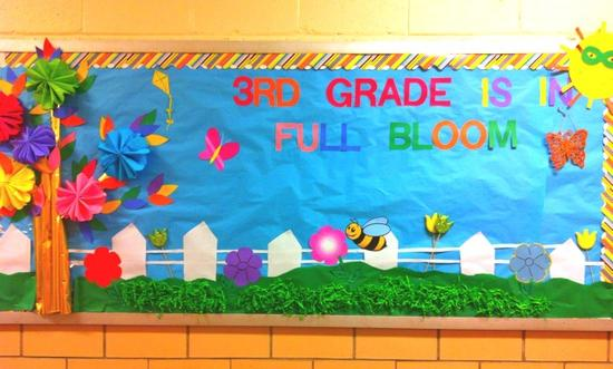 3rd Grade Is In Full Bloom Spring Bulletin Board Idea Supplyme