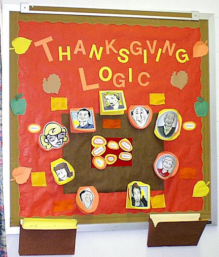 Thanksgiving Logic Interactive Holiday Math Bulletin Board Idea Supplyme