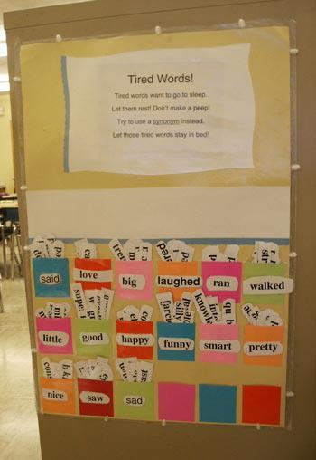 Literacy and Writing Interactive Bulletin Board Idea