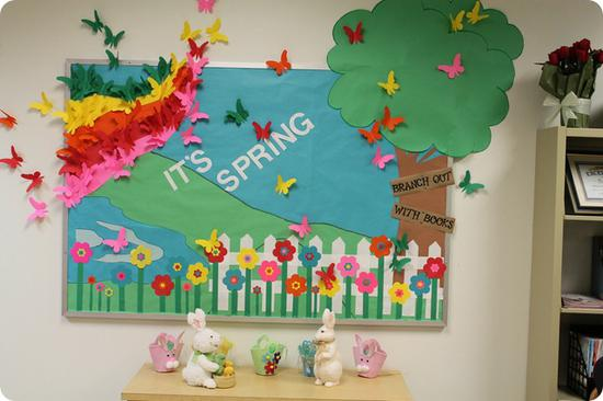 Spring and Easter Bulletin Board Idea