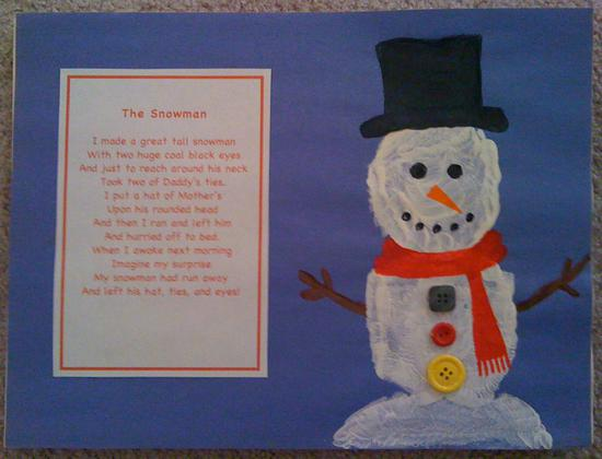 january calendar page featuring a snowman
