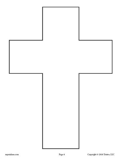 Free Printable Blank Cross