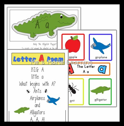 Letter A Activities for Literacy Center Practice