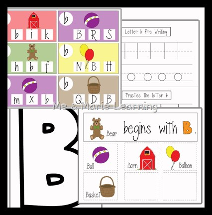 Letter B Activities for Literacy Center Practice
