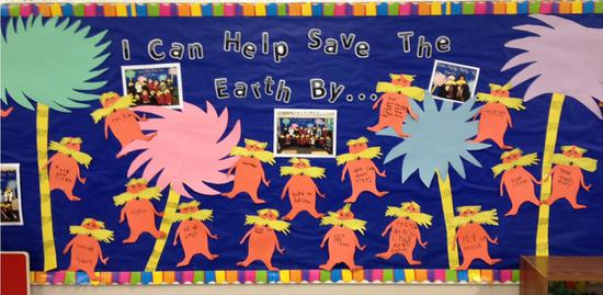 Earth Day and Dr. Seuss Bulletin Board Idea