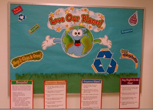Love Our Planet Earth Day Bulletin Board Supplyme