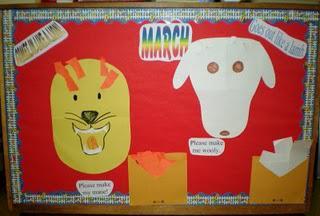 Lion Lamb Interactive March Bulletin Board Idea Supplyme