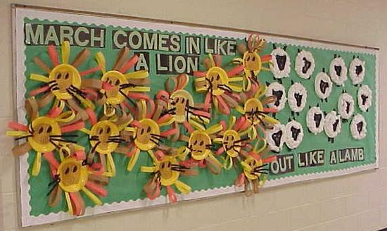 march weather lion and lamb bulletin board
