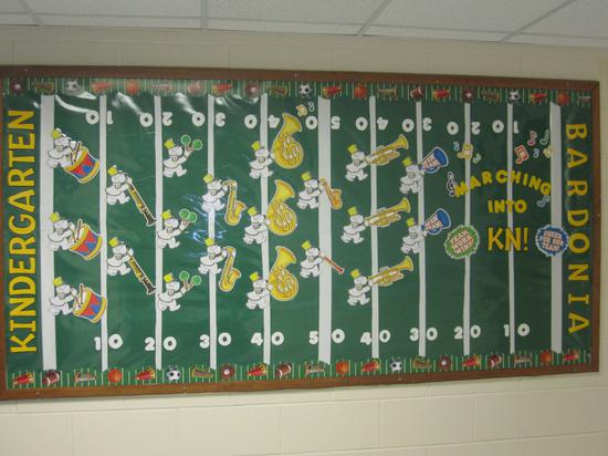 Sports Themed Back To School Bulletin Board Idea