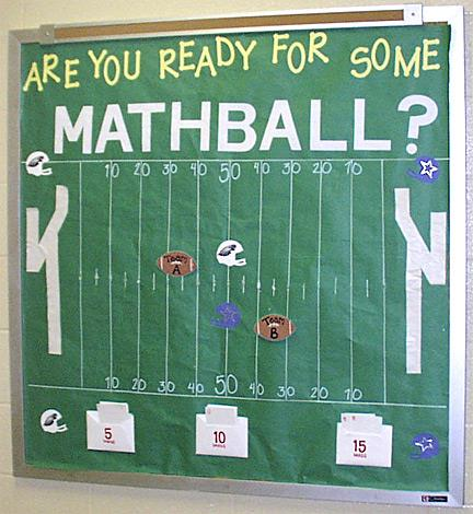 Are You Ready For Some Mathball Interactive Math Bulletin Board