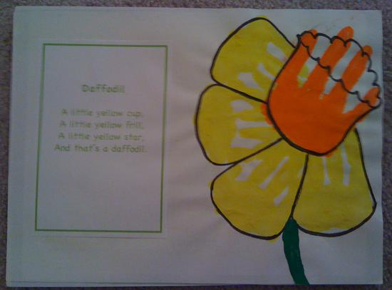 Summer Hand Print Flower Kids Craft