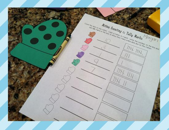How To Complete The Mitten Counting and Tally Mark Activity