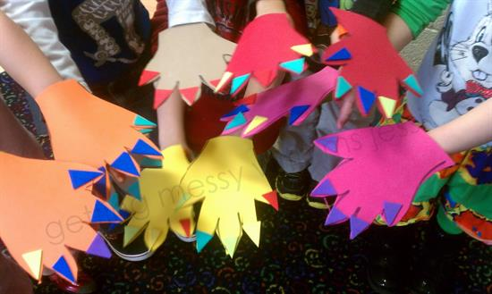 Craft for Preschool, Monster Hands