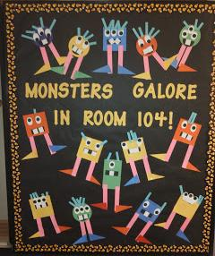 Monster Themed Halloween Math Bulletin Board Idea