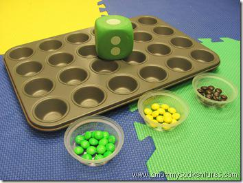 Fine Motor Skill and Math Counting Game Preschool Lesson Plan