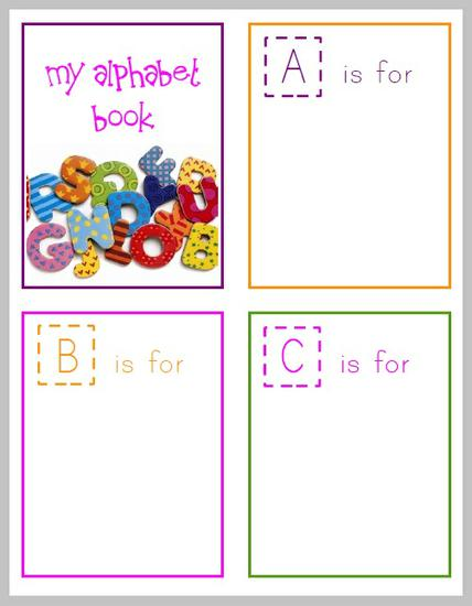 picture relating to Free Printable Alphabet Books named Cost-free Printable Alphabet Guide for Preschoolers! SupplyMe