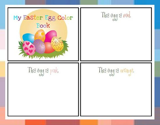 Spring and Easter Color Interactive Emergent Reader Preschool Printable