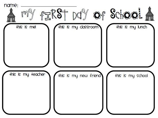 First Day of School Preschool Printable