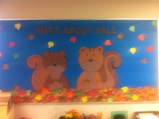 Nuts About Fall Bulletin Board Idea Supplyme