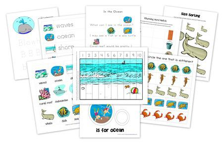 Summer Ocean Preschool Printables