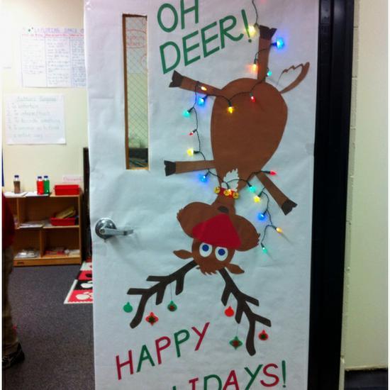 Oh Deer Christmas Bulletin Board Supplyme