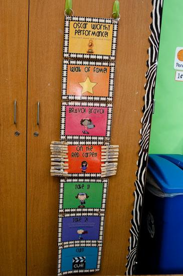 Hollywood Themed Classroom Behavior Management Clip System