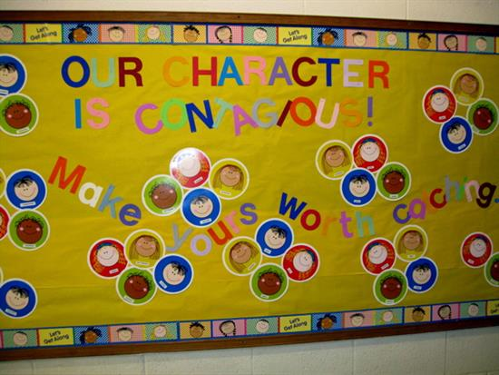 our character is contagious inspirational bulletin board supplyme