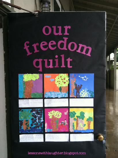 Classroom Decorations For Elementary ~ Classroom freedom quilt black history month display