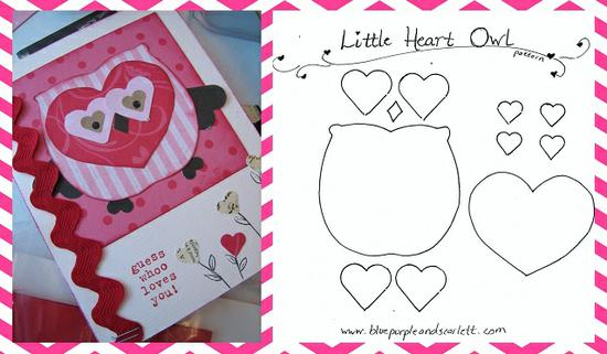 Valentine's Day Owl Template and Bulletin Board Idea
