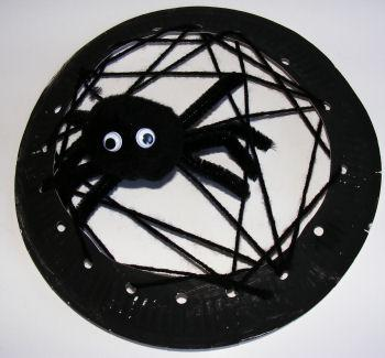 Halloween Spider and Web Craft for Kids